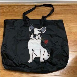 White House Black Market Boston Terrier Tote